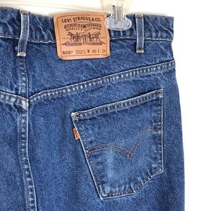 Levi's Orange Tab Style 505 Men's Blue Jeans